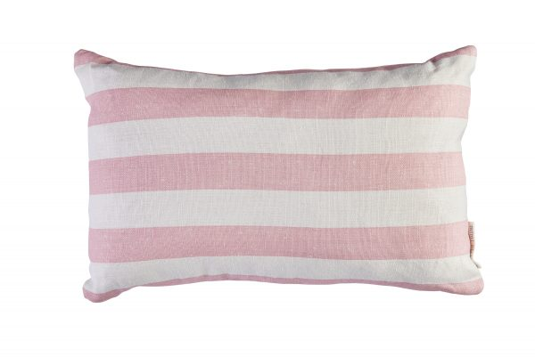 Mimi Pickard Charlie pink Stripe cushion