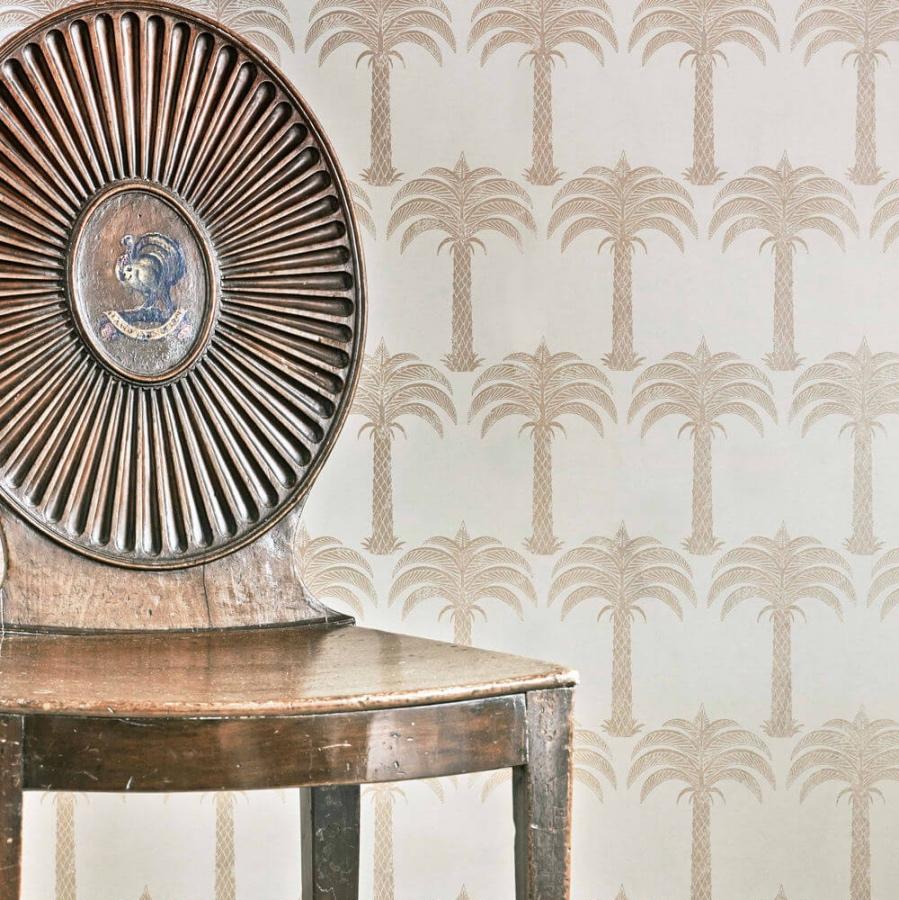 Gates Marrakech Palm soft gold wallpaper