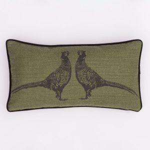 green pheasant cushion