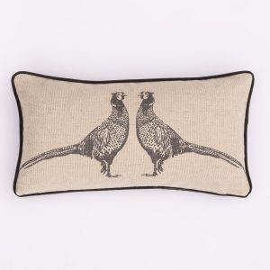 grey pheasant cushion