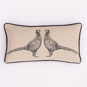 grey pheasant cushion