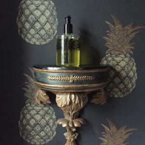 Barneby Gates pineapple charcoal wallpaper