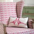 Pink Pheasant cushion Barneby Gates