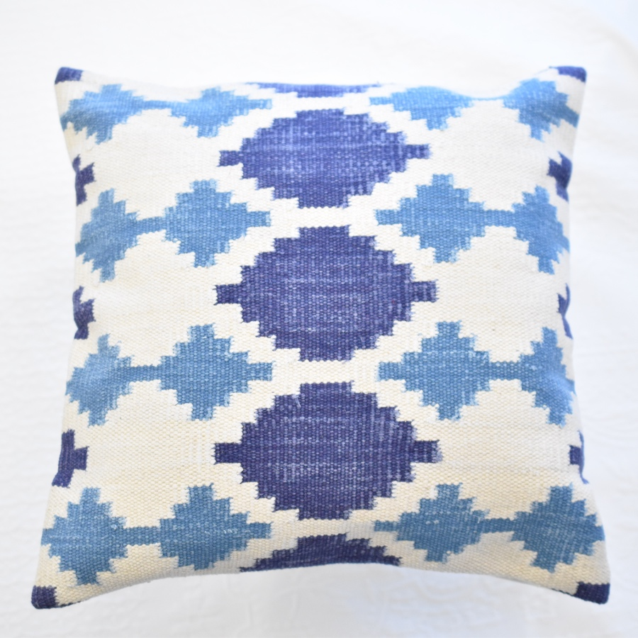 Blue Kilim cushion