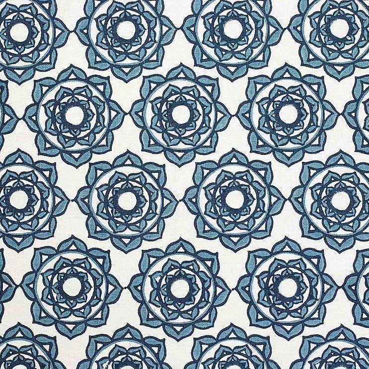 Molly Mahon Rose Blue fabric