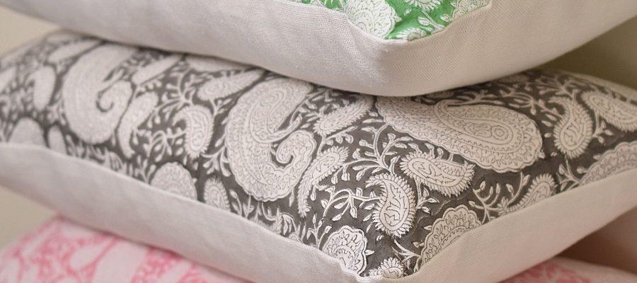 Pukka Paisley Cushions Block & Dye