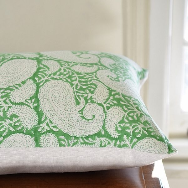blockprint cushion by Block & Dye
