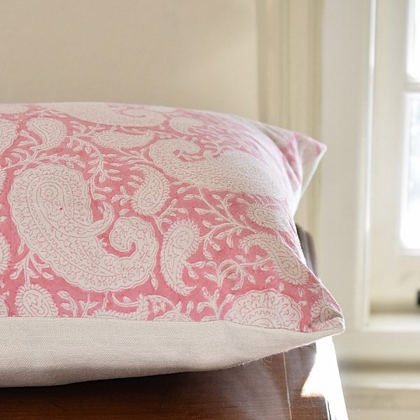 Pink cushion by Block & Dye