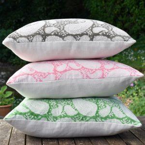 Block & Dye Pukka Paisley cushions