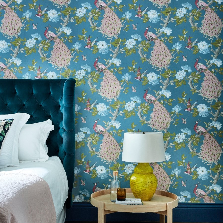 Little Greene National Trust Pavona Sylvie wallpaper