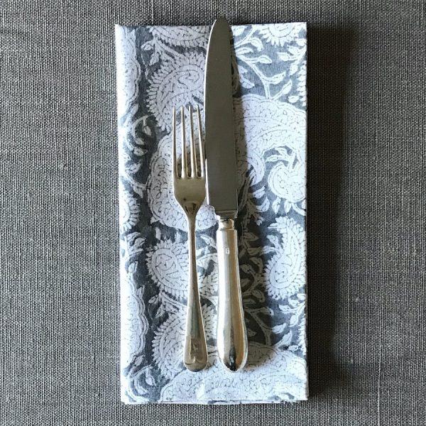 Slate napkin Block & Dye