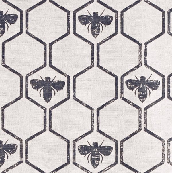 Barneby Gates Honeybees fabric charcoal