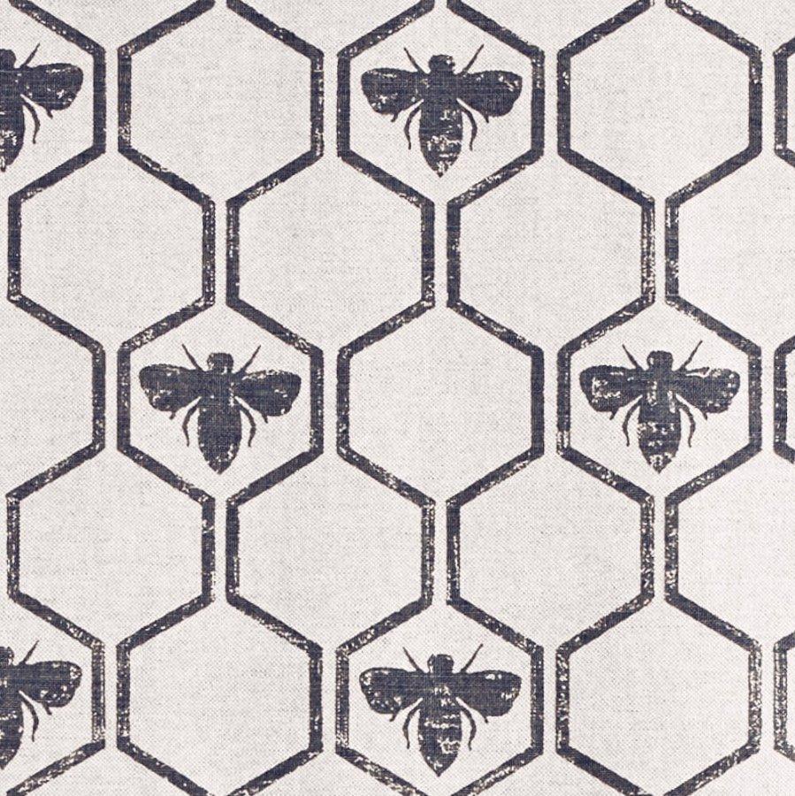 Barneby Gates Honeybees fabric charcoal