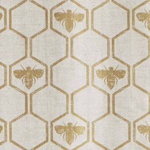 Barneby Gates Honeybees fabric gold