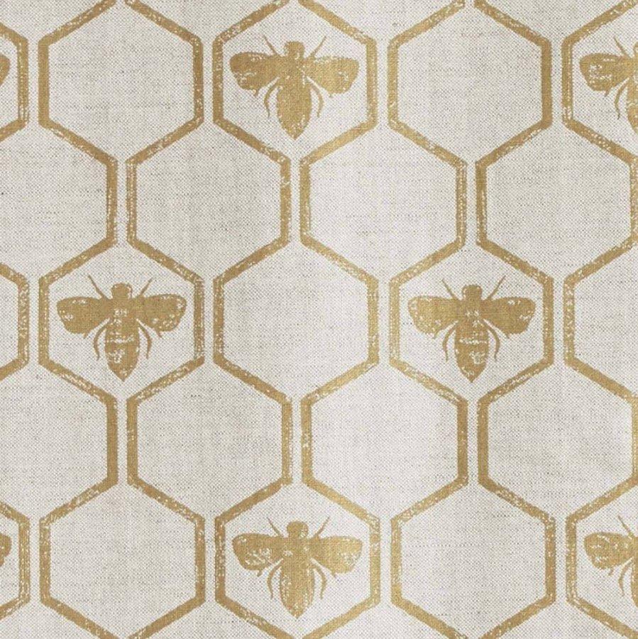 Barneby Gates Honeybees fabric gold