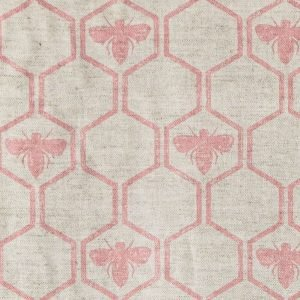 Barneby Gates Honeybees fabric rose