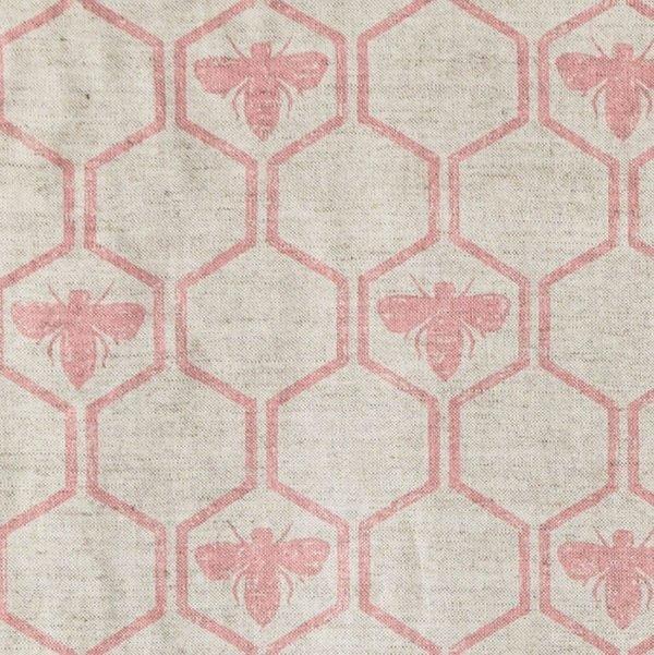 Barneby Gates Honeybees fabric rose