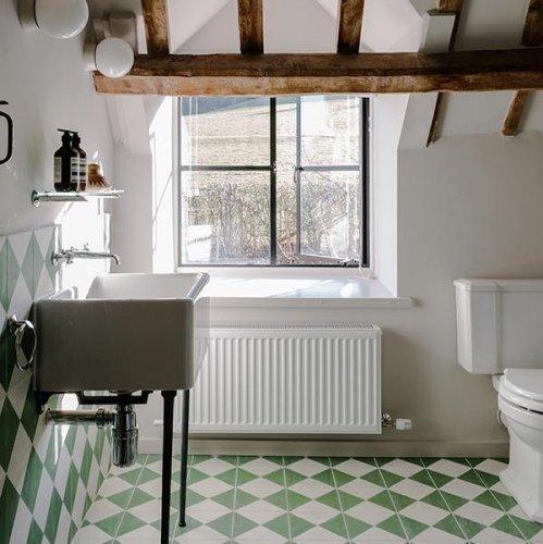 Bert & May green bathroom tiles