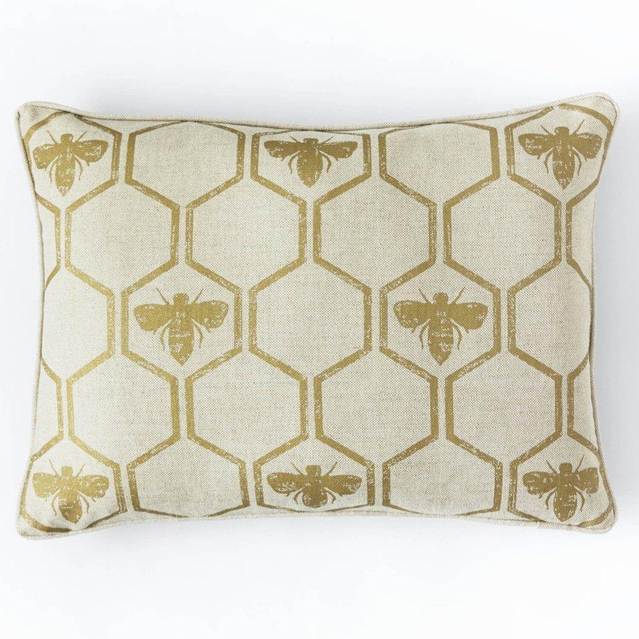 Barneby Gates Honey Bees Gold cushion