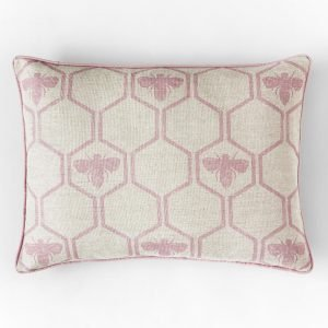 Barneby Gates Honey Bees cushion Rose