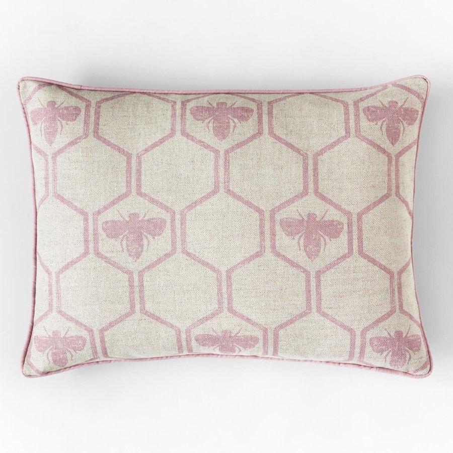 Barneby Gates Honey Bees cushion Rose