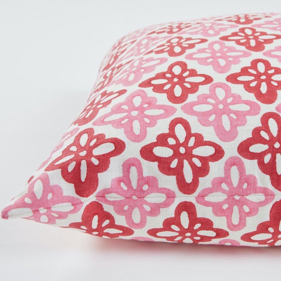 Molly Mahon Pattee cushion pink red