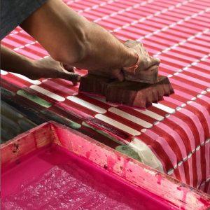 Molly Mahon fabrics Luna Pink & Red
