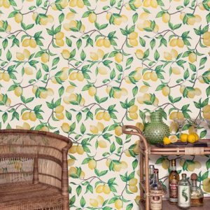 Barneby Gates Capri Lemons Natural wallpaper
