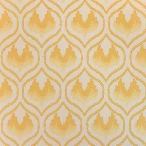 Barneby Gates Ikat Heart wallpaper mustard