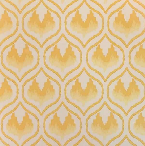Barneby Gates Ikat Heart wallpaper mustard