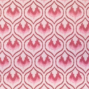 Ikat Heart wallpaper Barneby Gates Oxblood