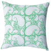 Block & Dye green square block print cushion