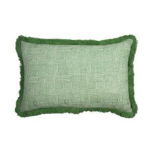 Birdie Fortescue Mishran Crosshatch vetiver cushion