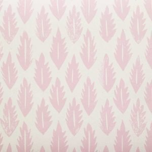 Molly Mahon leaf pink wallpaper