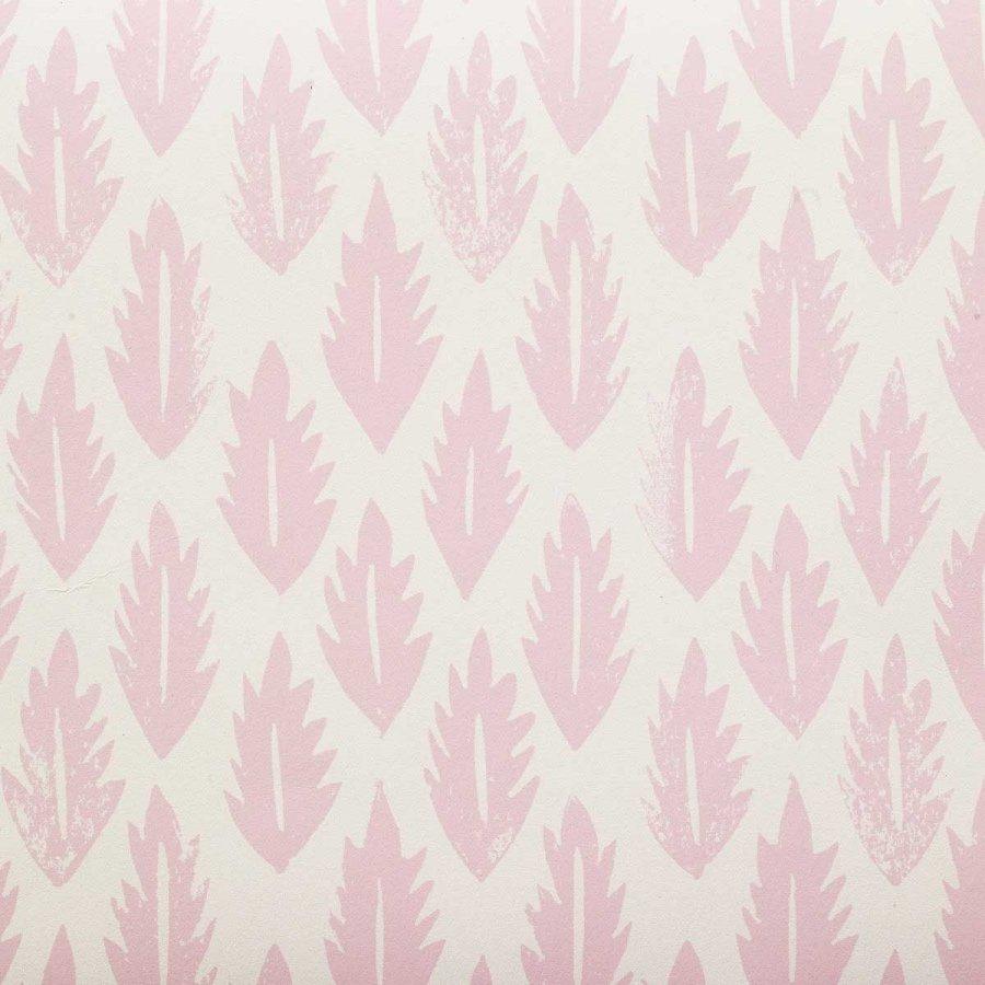 Molly Mahon leaf pink wallpaper