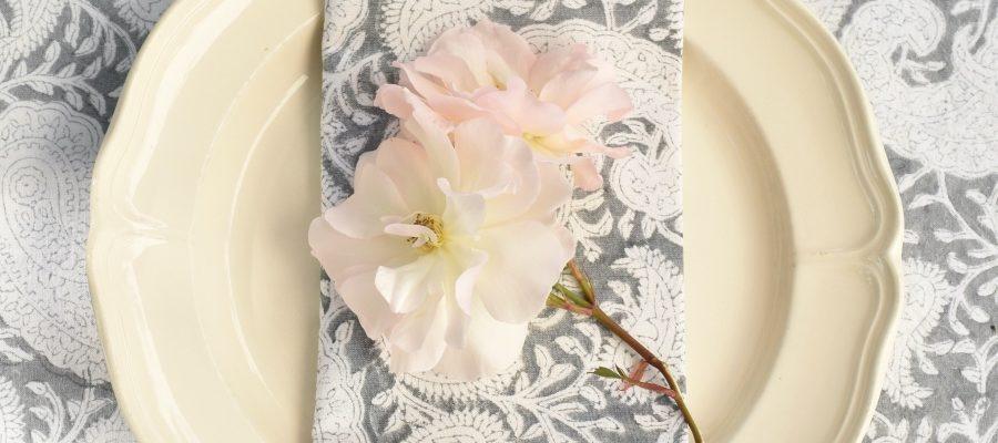 Block print tablecloth Block & Dye
