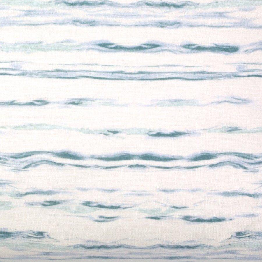 Birdie Fortescue Mishran Marble fabric cerulean