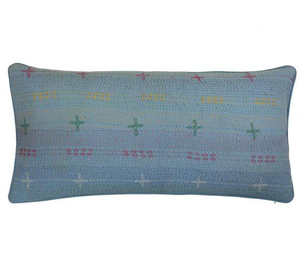 blue Kantha Cushion