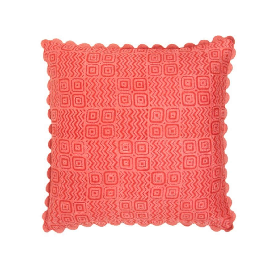 Birdie Fortescue Mishran Silk Kanthawork Cushion blush geometric