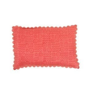 Birdie Fortescue Mishran Silk Kanthawork Cushion blush geometric