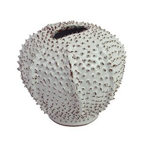 White Urchin Vase by Birdie Fortescue