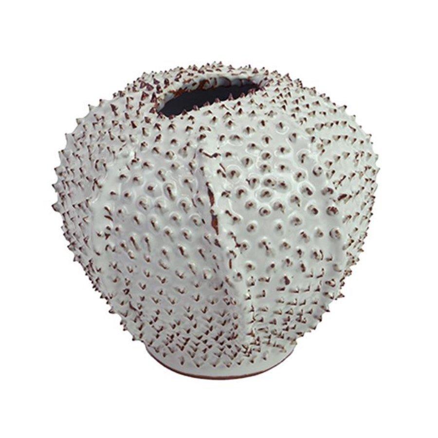 White Urchin Vase by Birdie Fortescue