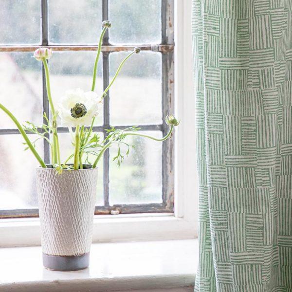 Birdie Fortescue Mishran Crosshatch fabric vetiver