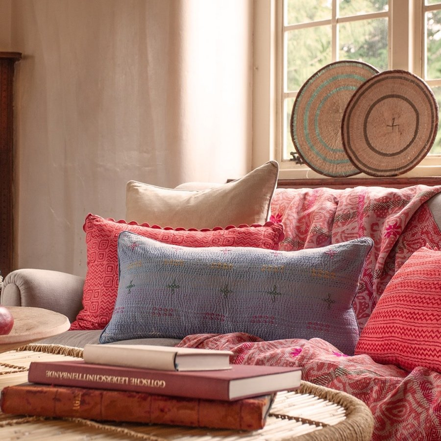 Birdie Fortescue Kantha cushions