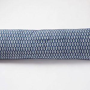 Bagru long Cushion by Molly Mahon - Dark Blue