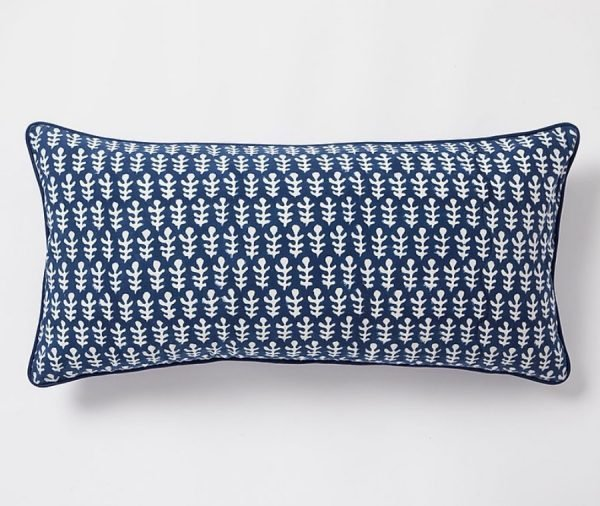 Bagru Cushion by Molly Mahon - Dark Blue
