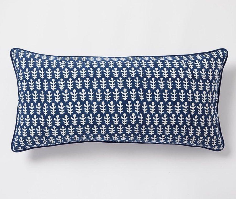 Bagru Cushion by Molly Mahon - Dark Blue