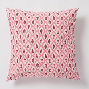 Buti square Cushion by Molly Mahon - Pink