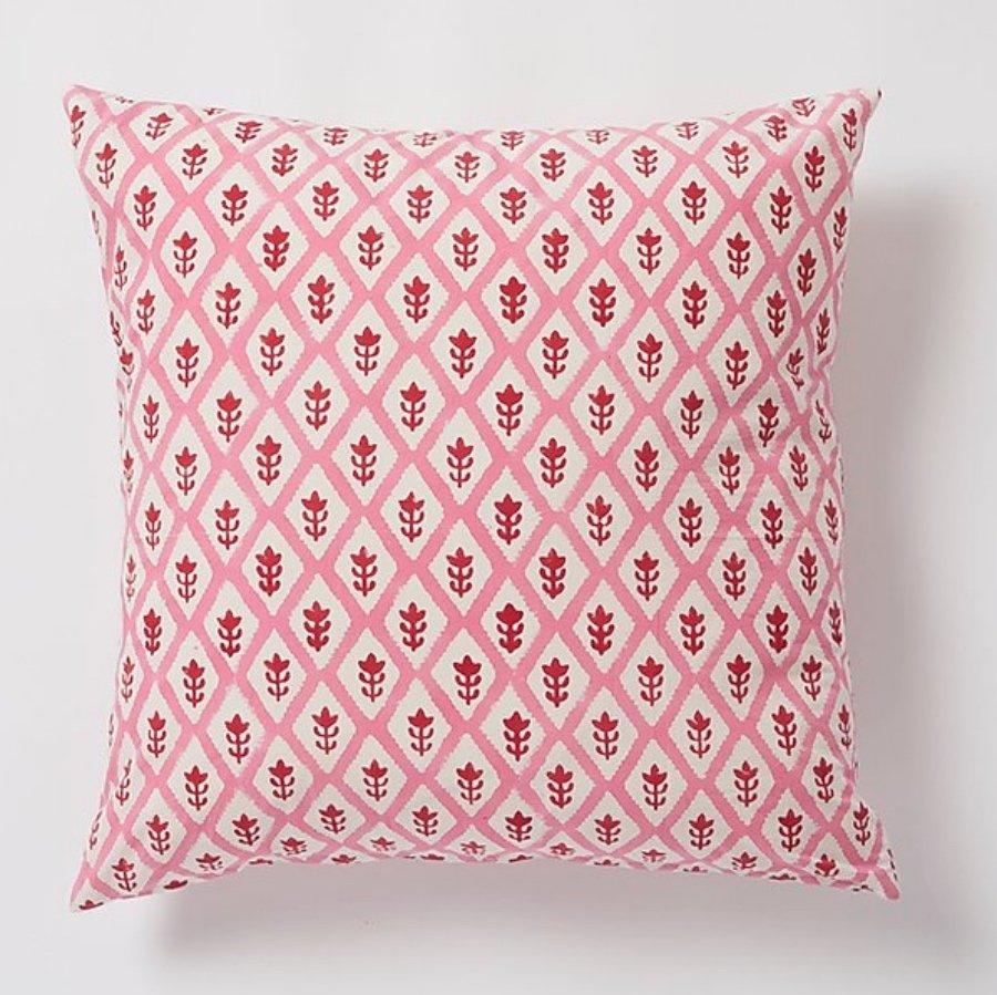 Buti square Cushion by Molly Mahon - Pink