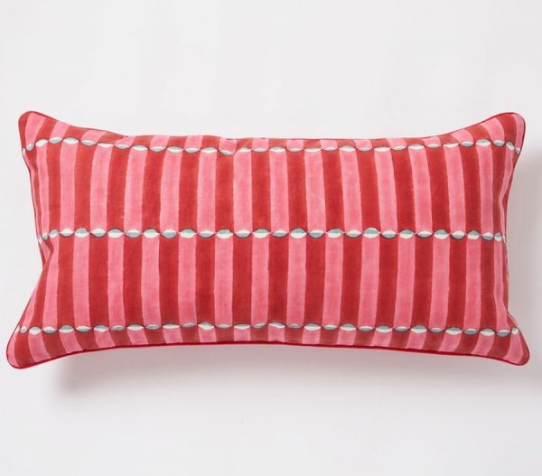 Luna Cushion by Molly Mahon - Pink and Red